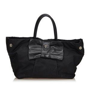 Prada Nylon Tessuto Bow Handbag
