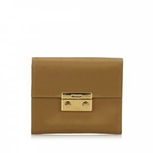 Prada Wallet dark brown nylon