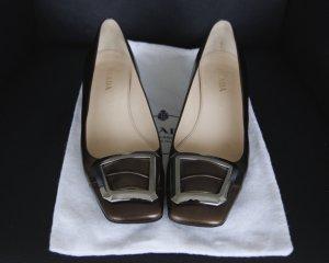 PRADA Original, braun, Gr. 38, Absatz 3 cm, wenig getragen