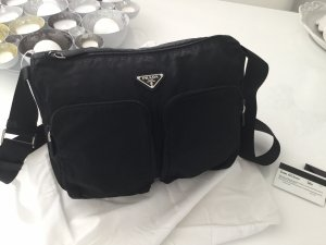 Prada Crossbody bag black-silver-colored