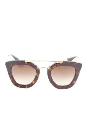 Prada ovale Sonnenbrille dunkelbraun 80ies-Stil