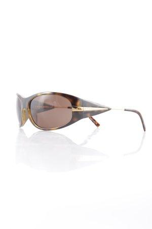 Prada ovale Sonnenbrille dunkelbraun-hellbraun Tortoisemuster Retro-Look