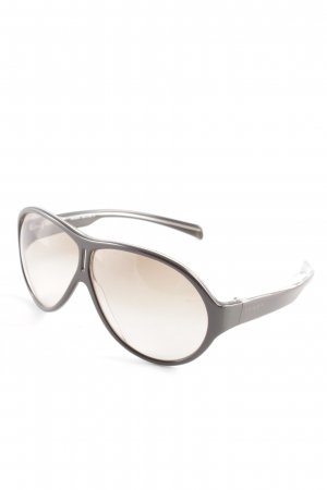Prada Oval Sunglasses dark brown urban style
