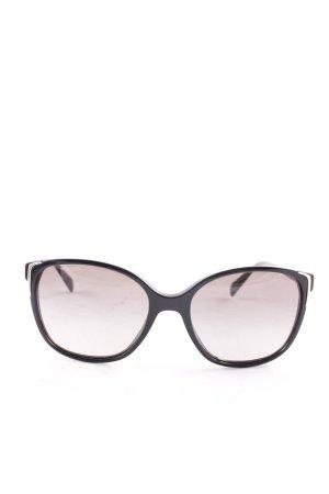 Prada Ovale zonnebril zwart klassieke stijl