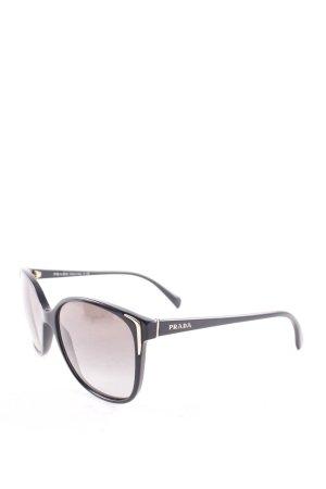 Prada ovale Sonnenbrille schwarz klassischer Stil