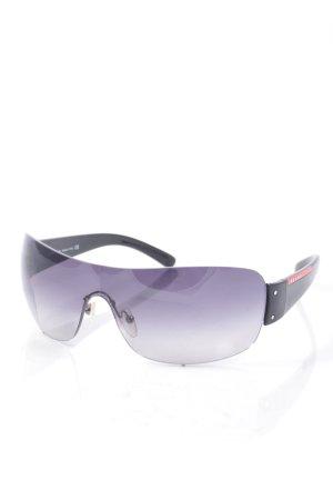 Prada ovale Sonnenbrille schwarz sportlicher Stil