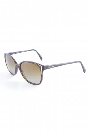 Prada ovale Sonnenbrille schwarzbraun-braun klassischer Stil