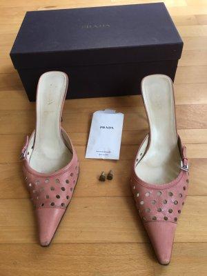 Prada Pantoletten Gr 39 rosa