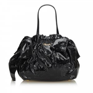 Prada Patent Leather Bow Satchel