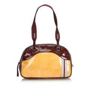 Prada Patent Leather Bowler Shoulder Bag
