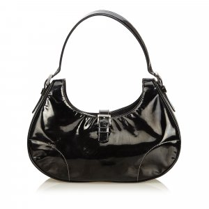 Prada Hobos black imitation leather