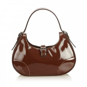 Prada Hobos brown imitation leather