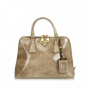 Prada Patent Leather Lux Promenade Handbag