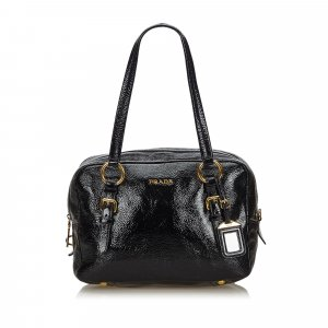 Prada Shoulder Bag black imitation leather