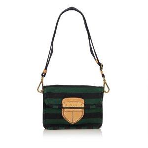 Prada Pattina Canapa Righe Bag