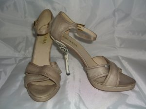 PRADA Peeptoe Pumps in Nude