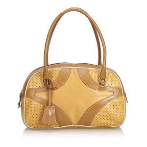 Prada Perforated Leather Handbag