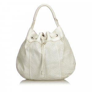 Prada Hobos white leather