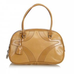 Prada Perforated Leather Shoulder Bag