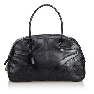 Prada Perforated Leather Shoulder Bag
