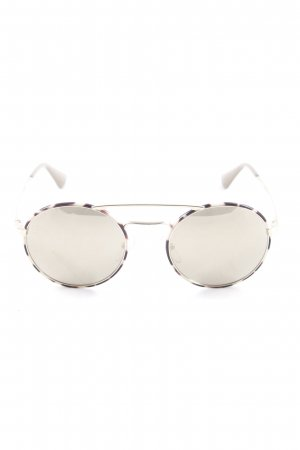 Prada Pilot Brille Animalmuster Animal-Look