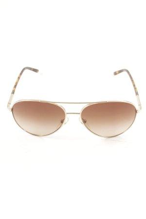 Prada Occhiale da pilota oro-marrone stile classico