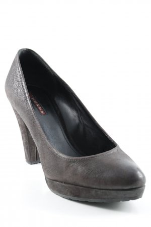 Prada Plateau-Pumps dunkelbraun Business-Look