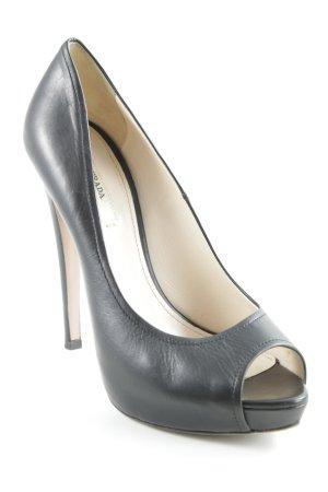 Prada Plateauzool pumps zwart extravagante stijl