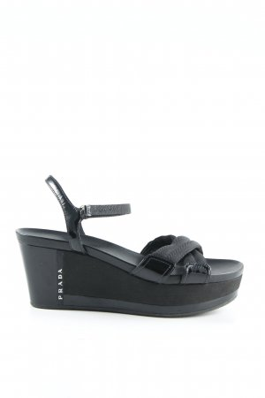 Prada Platform Sandals black elegant