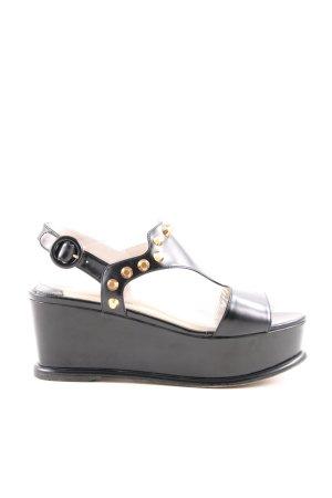 Prada Plateau-Sandalen schwarz extravaganter Stil