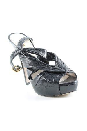 Prada Sandalo alto con plateau nero elegante