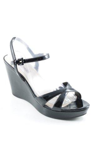 Prada Platform High-Heeled Sandal black elegant