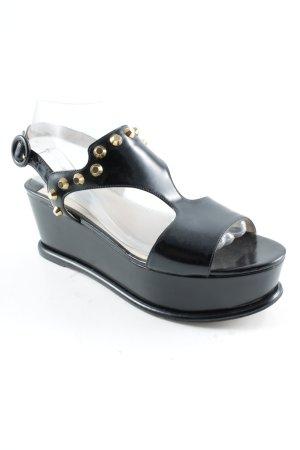 Prada Plateau-Sandaletten schwarz extravaganter Stil