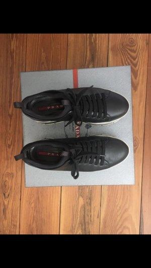 Prada Sneaker con tacco nero-bianco Pelle