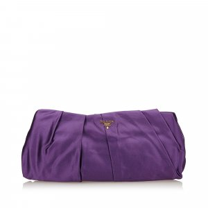 Prada Clutch purple viscose