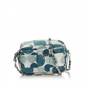 Prada Polka Dot Nylon Chain Crossbody Bag