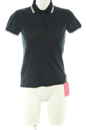 Prada Polo-Shirt schwarz Streifenmuster Casual-Look