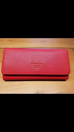 Prada Wallet brick red