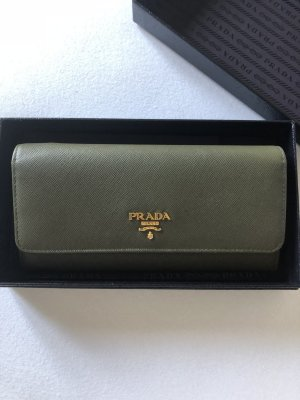 Prada Wallet green grey-dark green