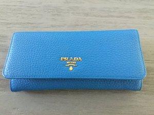 Prada Portemonnaie , Leder in blau