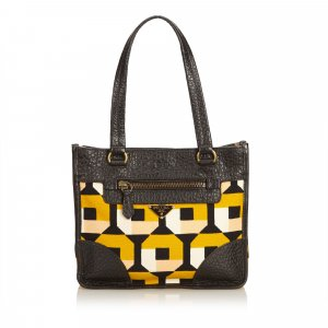 Prada Printed Canvas Handbag