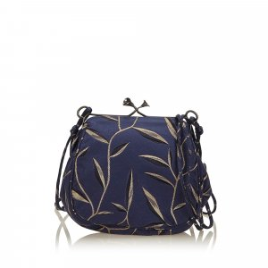 Prada Printed Chemical Fiber Crossbody Bag