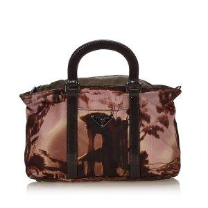 Prada Printed Nylon Handbag