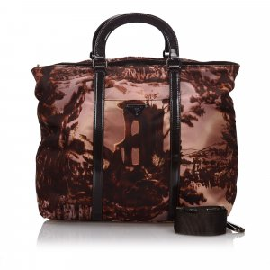 Prada Printed Nylon Satchel