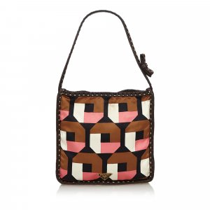 Prada Printed Satin Handbag