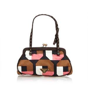 Prada Printed Satin Shoulder Bag