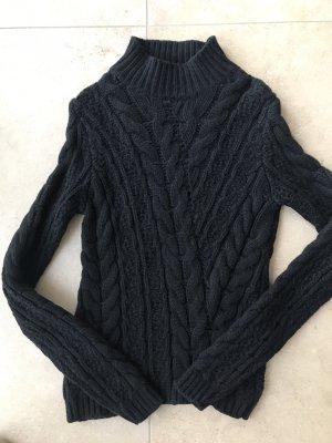 PRADA Pullover Wolle Pulli Designer 36 XS Zopfmuster