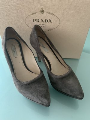 Prada Platform Pumps taupe-grey brown