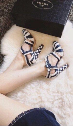 Prada High Heels white-blue