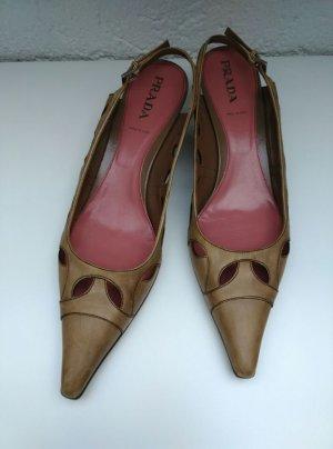 Prada Zapatos de punta multicolor Cuero